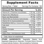tabla nutricional b-complex/-100 tabletas sistema nervioso medical green dismundonatural