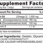 tabla nutricional omega 3/-100 capsulas blandas sistema circulatorio medical green dismundonatural