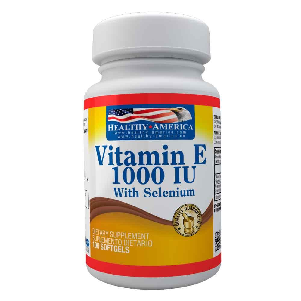 vitamin e 1000 iu con selenium 100 softgels healthy america dismundonatural