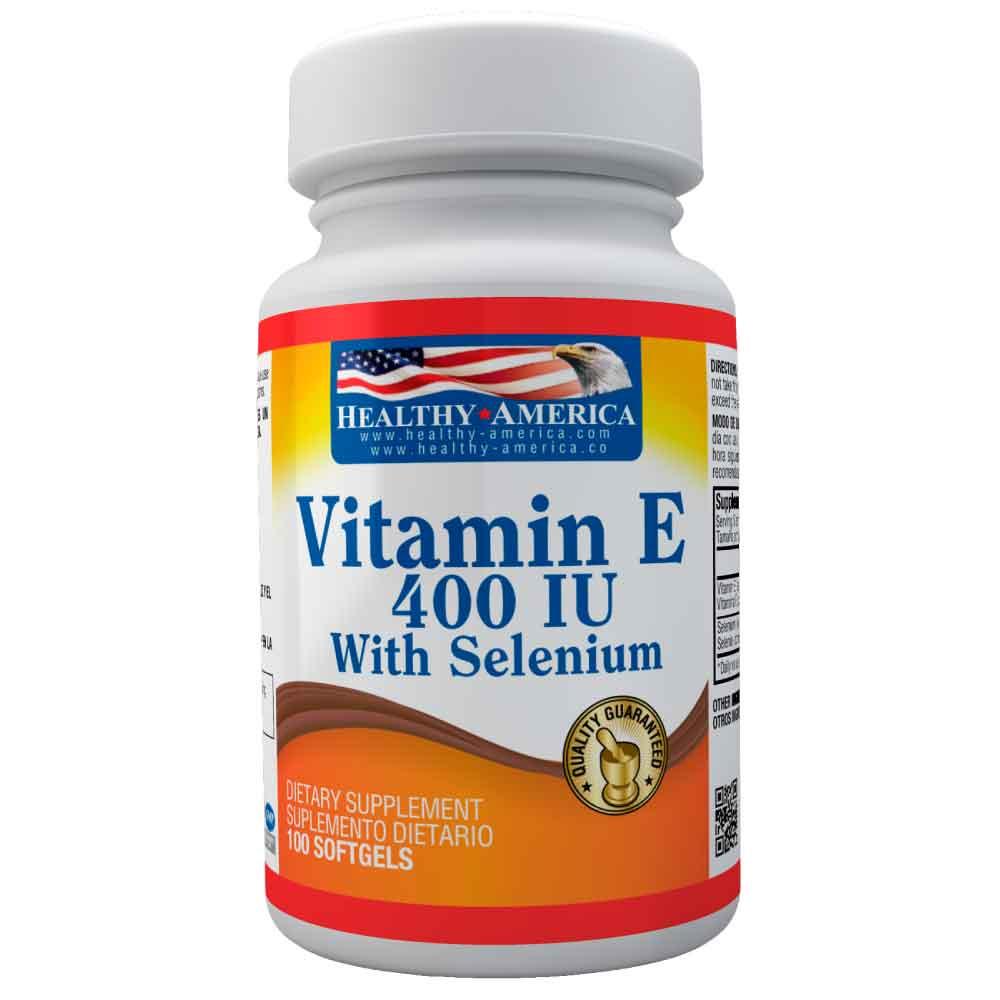vitamin e 400 iu con selenium 100 softgels healthy america dismundonatural