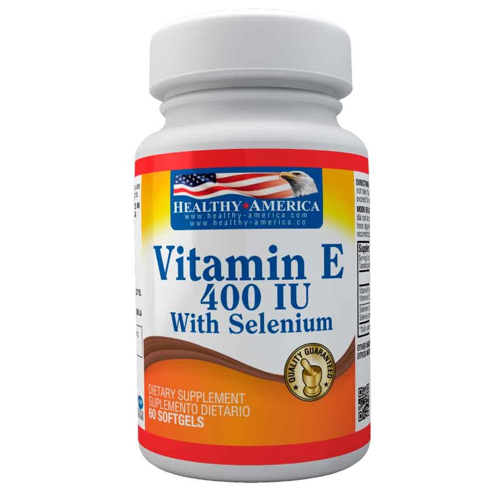 vitamin e 400 iu con selenium 60 softgels healthy america dismundonatural