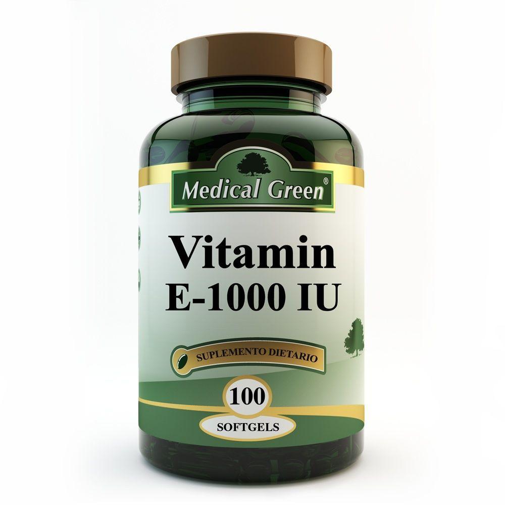 vitamina e 1000 iu 100 capsulas blandas sistema tegumentario piel medical green dismundonatural
